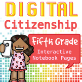 Internet Safety Interactive Notebook Pages- 5th Grade