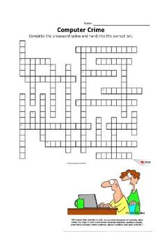 Computer Crime -  Vocabulary - Crossword