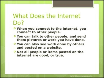 Internet Safety Lesson and Quiz