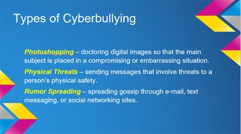 PowerPoint: Internet Safety Lesson, Activity Page, Study Guides, and Test
