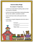 Internet Safety Pledge Printable - Student to Sign
