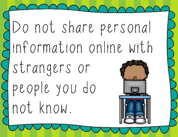 Internet Safety Posters