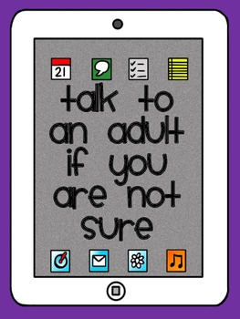 Internet Safety Printable Posters And Resources By Miss