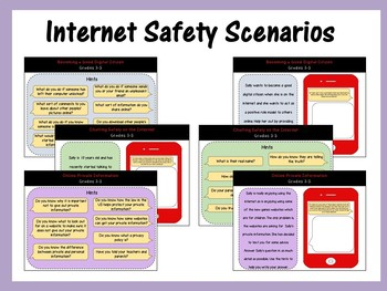 Internet Safety Scenarios & Questions: Mapped to Common Sense Media (Grades 3-5)
