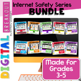 Internet Safety Topics Digital Breakouts Bundle