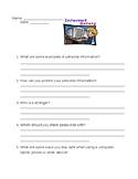 Internet Safety Worksheet