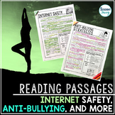 Internet Safety and Anti-Bullying Reading Passages - Questions - Annotations