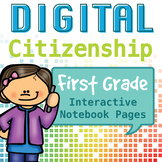 Internet Safety and Digital Citizenship Interactive Notebook - First Grade