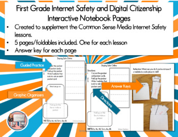 Internet Safety and Digital Citizenship Interactive Notebook - First Grade
