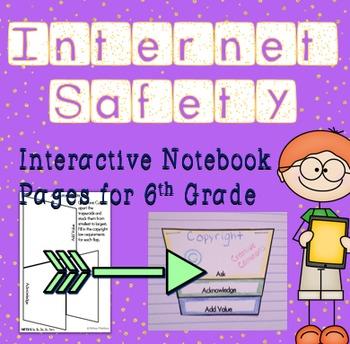Internet Safety and Digital Citizenship Interactive Notebook - Sixth Grade