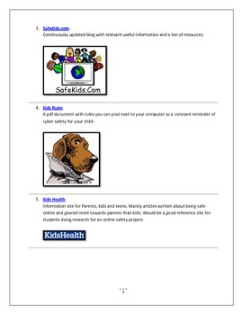 Internet Safety for Elementary Students Handbook