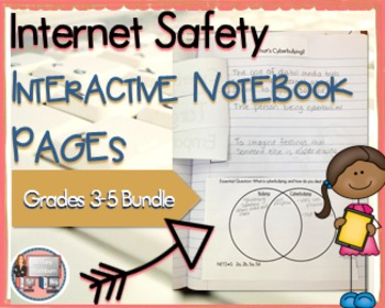 Internet Safety and Digital Citizenship Interactive Notebook Pages 3-5 BUNDLE