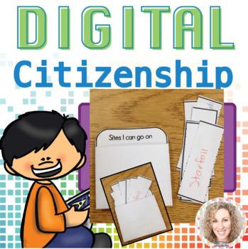 Internet Safety or Digital Citizenship Interactive Notebook Pages K-5 BUNDLE