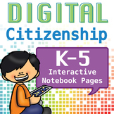 Internet Safety Interactive Notebook Printables K-5 BUNDLE