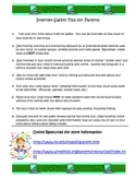 Internet Saftey flyer for parents