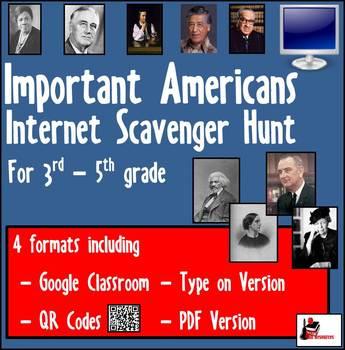 Internet Scavenger Hunt-Intermediate Grades-Amazing Americans