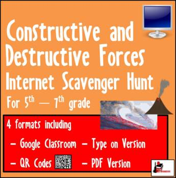 Internet Scavenger Hunt - Fifth Grade - Constructive and Destructive Forces