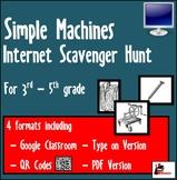 Internet Scavenger Hunt - Intermediate Grades - Simple Machines
