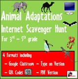 Internet Scavenger Hunt - Animal Adaptations - Distance Learning