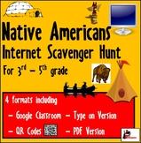 Internet Scavenger Hunt - Native Americans - Distance Learning