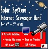 Internet Scavenger Hunt - Solar System - Distance Learning