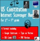 Internet Scavenger Hunt - US Constitution - Distance Learning