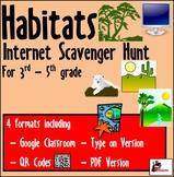 Internet Scavenger Hunt - Intermediate Grades - Habitats