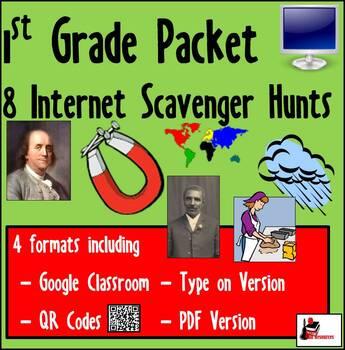 Internet Scavenger Hunt Packet - First Grade