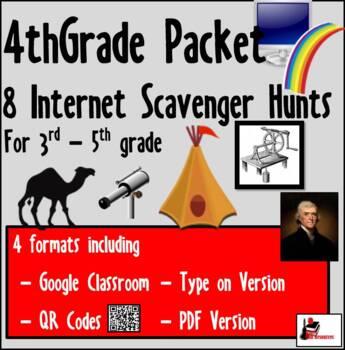 Internet Scavenger Hunt Bundle - Fourth Grade
