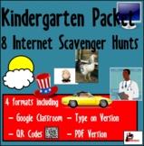 Internet Scavenger Hunt Bundle - Kindergarten