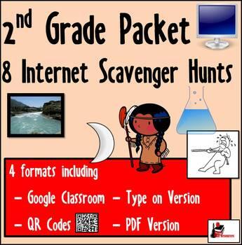 Internet Scavenger Hunt Packet - Second Grade