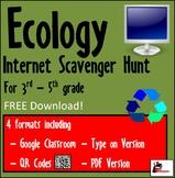 Internet Scavenger Hunt - Intermediate Grades - Ecology