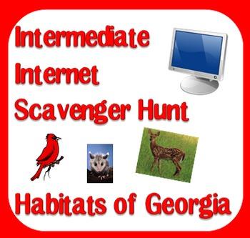 Internet Scavenger Hunt - Intermediate Grades - Habitats of Georgia