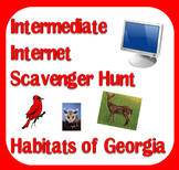 Internet Scavenger Hunt - Intermediate Grades - Habitats of Georgia