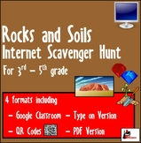 Internet Scavenger Hunt  - Intermediate Grades - Rocks, Minerals, Soil & Fossils
