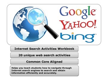 Internet Search Activities Reproducible Workbook - School Site License