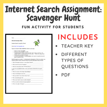 Internet Search Assignment - Scavenger Hunt