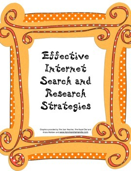 Internet Search Strategies/Skills: Lesson and Activity