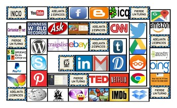 Internet Sites Spanish Legal Size Photo Board Game