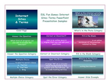 Internet Sites-Terms-Activities PowerPoint Presentation