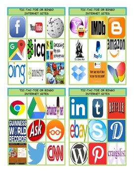 Internet Sites Tic-Tac-Toe or Bingo