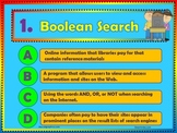 Internet Vocabulary Words Fold-able Mini-book and PowerPoint quiz