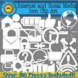Internet and Social Media Icons Clip Art