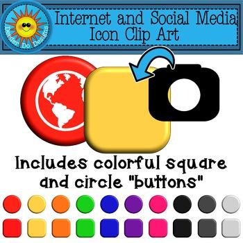 Internet and Social Media Icons Clip Art