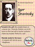Internet based music lesson: Igor Stravinsky- Great for subs / independent study