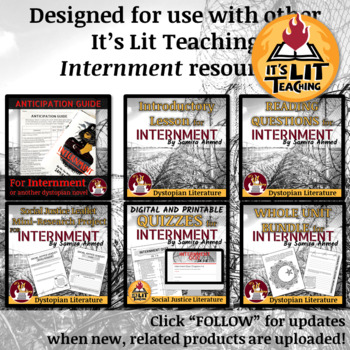 Internment by Samira Ahmed Reading Journal and Workbook