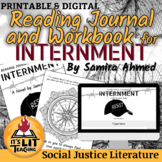 Internment by Samira Ahmed Reading Journal and Workbook (D