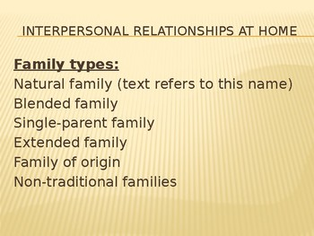 Interpersonal Communication at Home and at Work