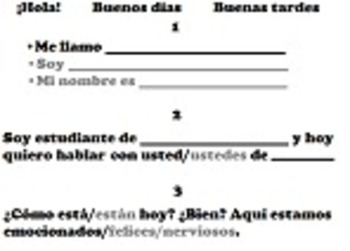 Interpersonal Spanish Playbook: Guide to Asking Questions/Understanding Answers
