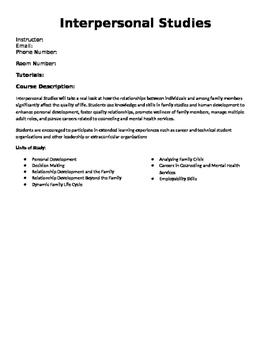 Interpersonal Studies Syllabus